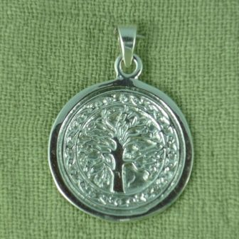 Sterling silver Tree of Life pendant: disc