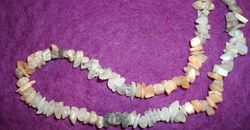 Crystal Chip necklace - Natural moonstone 85cm