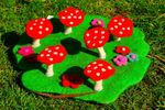 Himalayan Journey  Fairy Rings and Toadstool mat - small