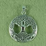 Silver Tree of Life pendant - convex