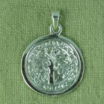 Silver Tree of Life pendant - disc