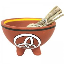 Smudge bowl - 13 cms Terracotta